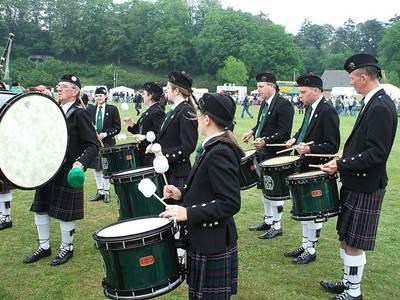 Northern Constabulary Pipe Band - Drum Corps, Grampian, Scotland, GB