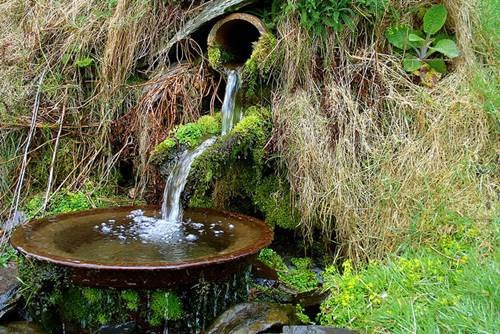 Mountain Spring Near Prenteg, Porthmadog, North Wales, UK
