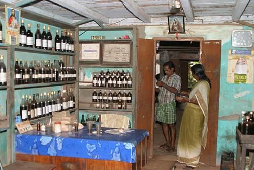 An Ayurvedic Medicine Shop