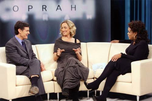 Cancer Survivor Kris Carr with Oprah and Dr. Oz
