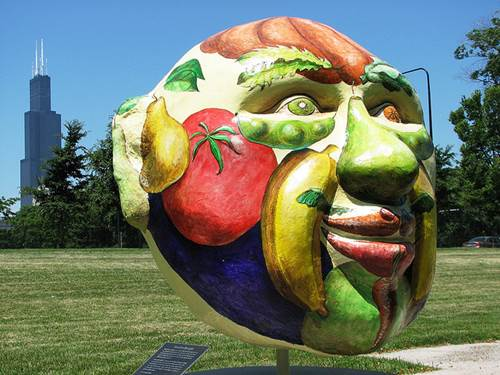 Cool Globes Chicago Veggie Face