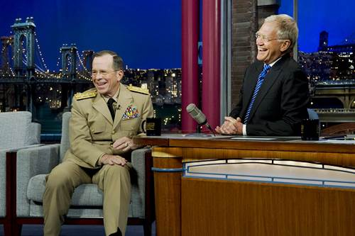 David Letterman on 'The Late Show with David Letterman' in New York
