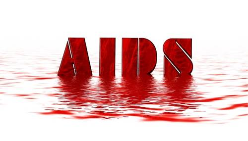 AIDS Sign in Red Color