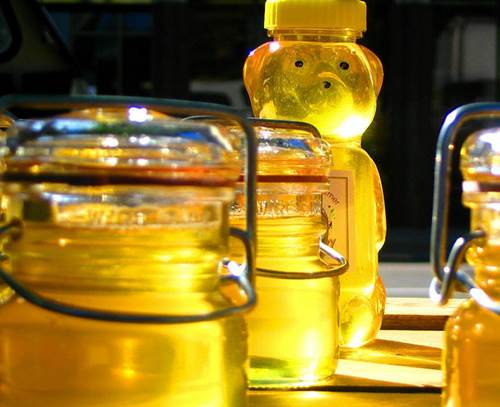 Fresh Honey in Jars and a Bottle