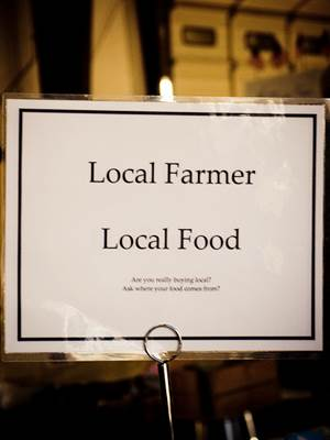 Local Farmer Local Food Sign