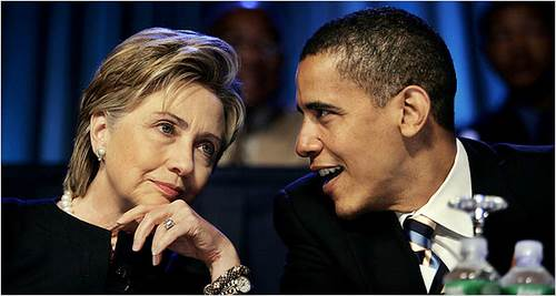 Hillary Clinton & Barack Obama