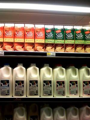 Soymilk on a Store Shelf