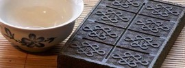 Close-Up on Brick Tea (Tuo Cha)