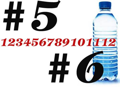 Plastic Bottle Numbers