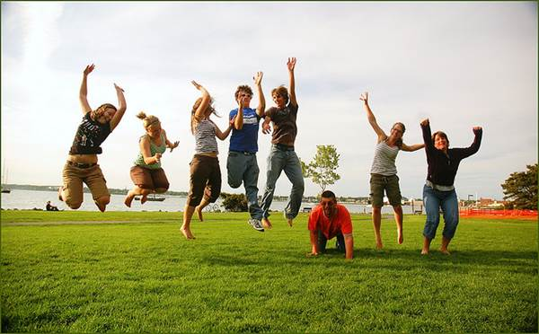 'Family Jump' Picture of a Happy and Healthy Family