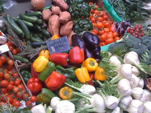 Organic Vegetables in a Sunday Market in Paris