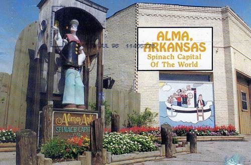 Alma, Arkansas, the Spinach Capital!