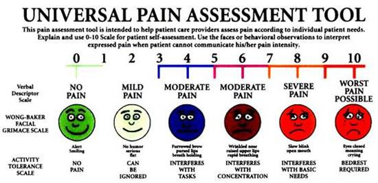 Universal Pain Assessment Tool Chart