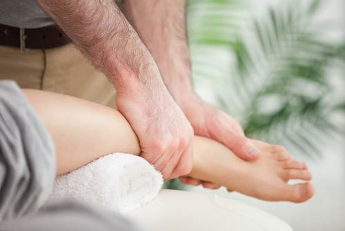 A Patient being Diagnosed with Plantar Fasciitis