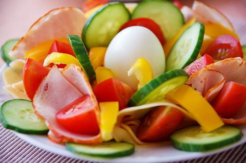 Egg, Ham and Vegetable Salad