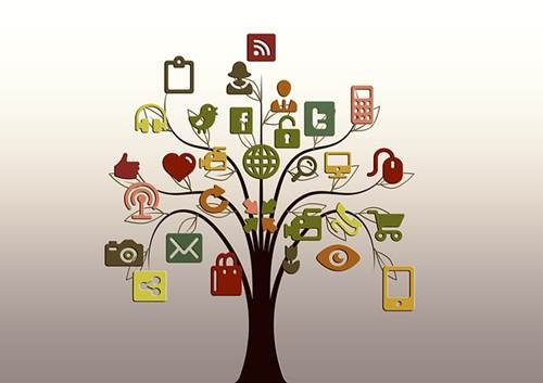 Tree Structure of Internet Social Media Networks